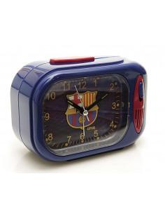 Reloj despertador cuadrado musical con himno FC Barcelona