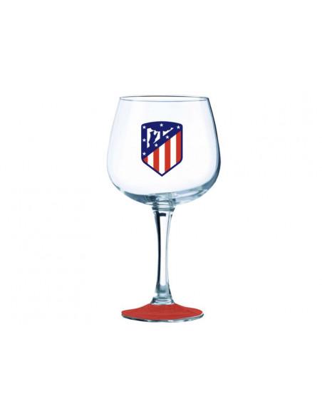 Copa grande de cristal Athletico de Madrid gin tonic