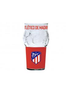 Vaso grande de cristal Atlético de Madrid balón