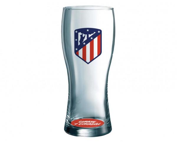 Vaso de cristal Atlético de Madrid para cerveza ATM