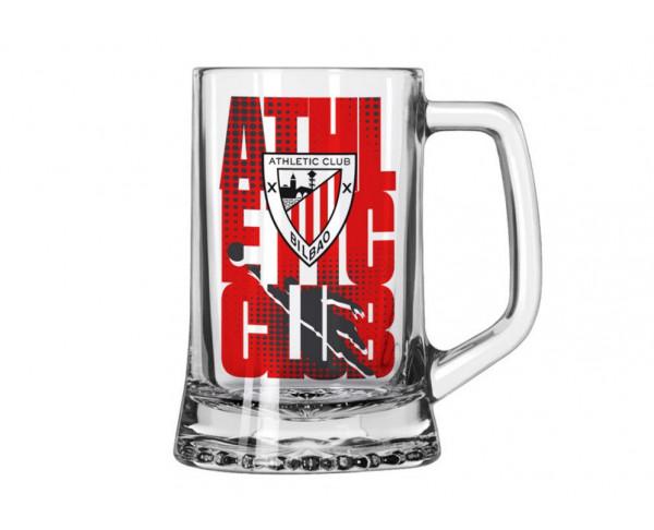 Jarra cerveza de cristal Athletic Club Bilbao