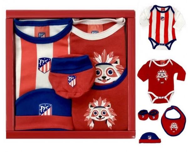 Conjunto de regalo para recién nacido Atlético Madrid