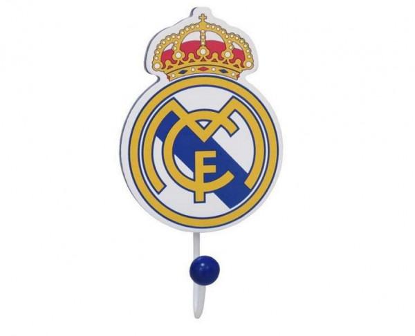 Gancho perchero de madera escudo Real Madrid