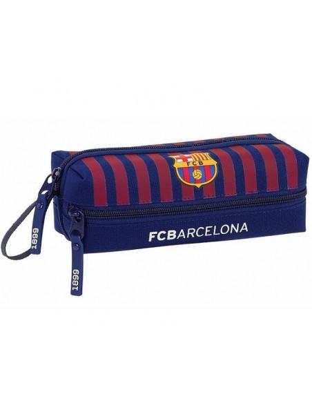 Estuche portatodo con tres cremalleras FC Barcelon