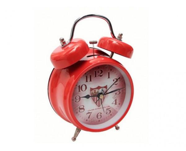 Despertador metálico grande de campana Sevilla FC