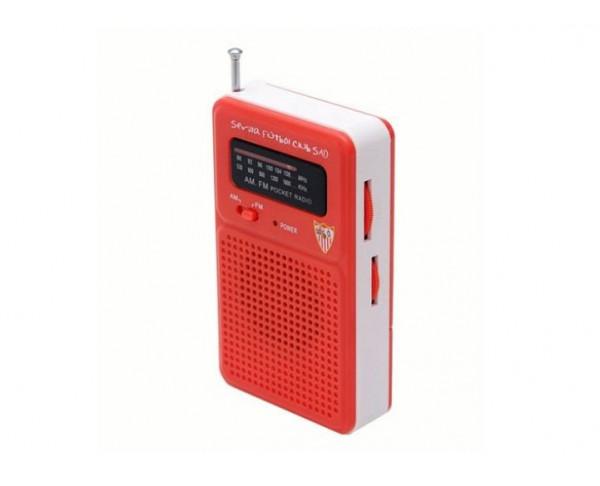 Radio de bolsillo Sevilla FC con antena Am-Fm