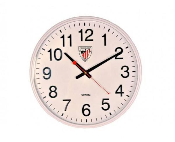 Reloj de pared Athletic Club Bilbao grande Silencioso blanco