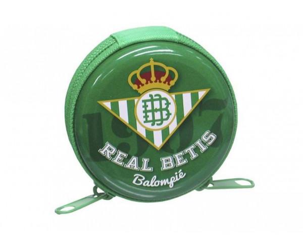 Monedero metalico Real Betis con cierre de cremallera