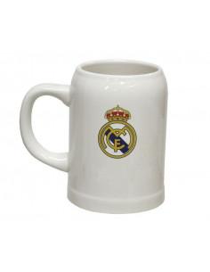 Jarra de cerveza de porcelana del Real Madrid