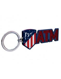 Llavero Atlético de Madrid con escudo purpurina