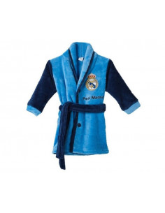 Bata infantil Real Madrid tejido coral con botones