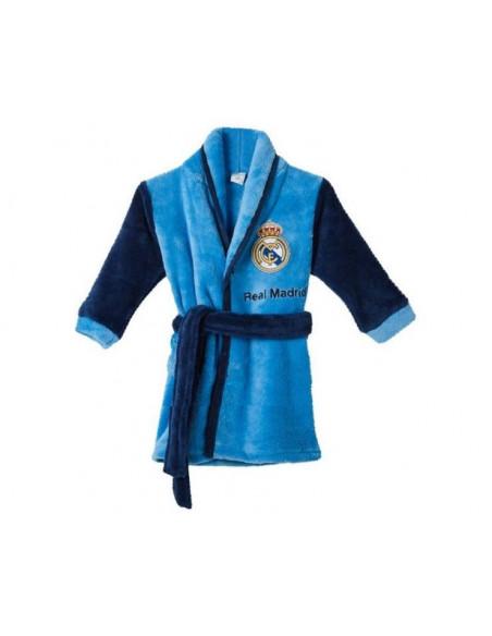 Bata junior Real Madrid tejido coral cierre de cremallera
