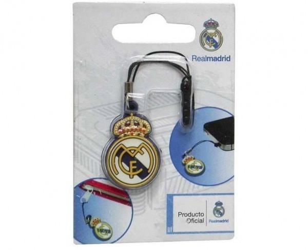 Escudo Real Madrid salida auriculares teléfono móvil