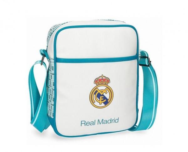 Bandolera de polipiel Real Madrid alto de gama azul turquesa