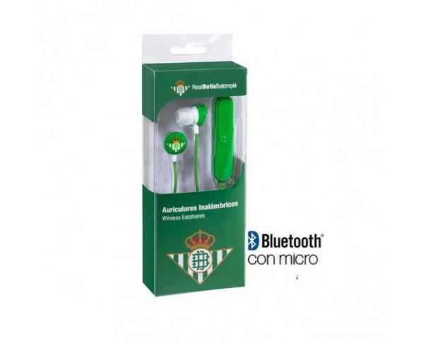 Auriculares inalámbricos Bluetooth con micrófono Real Betis