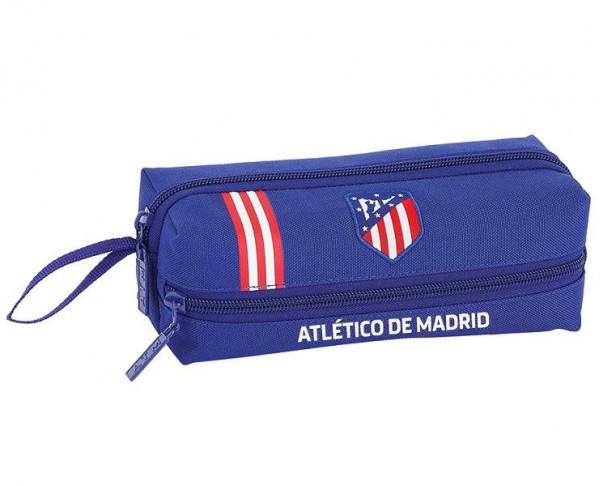 Estuche Atletico de Madrid con tres departamentos