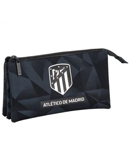 Portatodo Atlético de Madrid tres departamentos Black