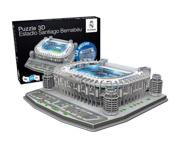 Maqueta 3D estadio Santiago Bernabéu iluminación Led