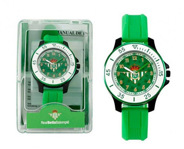 Reloj de pulsera Real Betis juvenil verdiblanco. Producto oficial Real Betis
