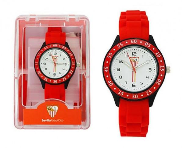 Reloj de pulsera infantil del Sevilla FC  correa roja