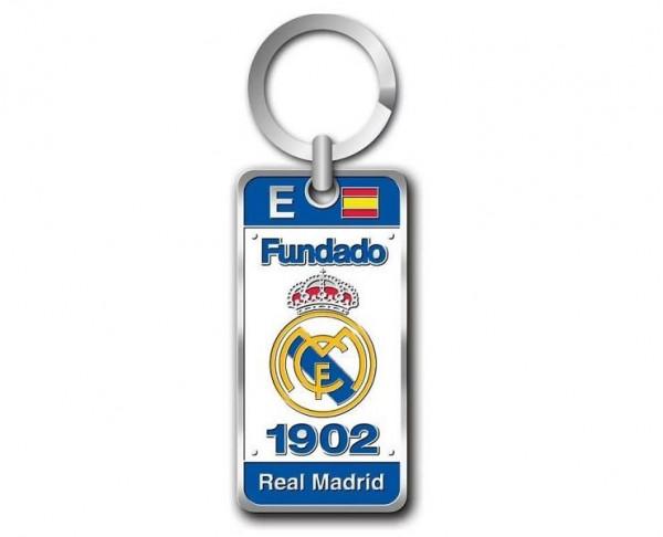 Llavero Fundación Real Madrid con escudo y leyendas 3D