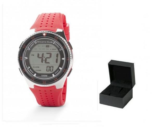 Reloj de pulsera digital Athletic Club caballero rojo