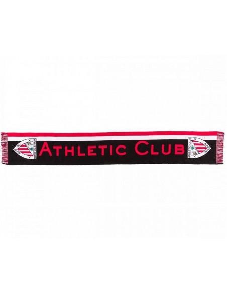 Bufanda tricolor Athletic Club Bilbao con escudos