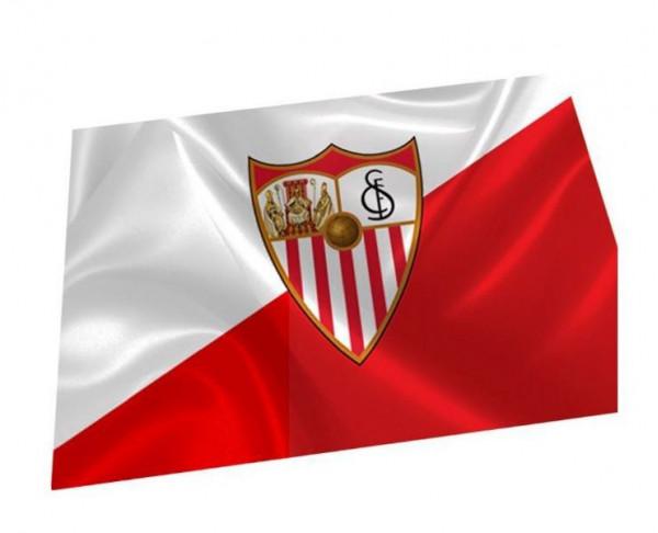 Bandera grande doble cara grabada Sevilla FC Campeones