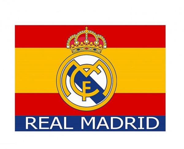 Bandera Real Madrid con los colores de España