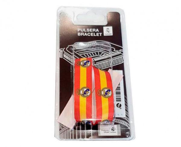 Pulsera de tela Real Madrid con los colores de España