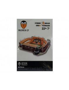 Maqueta 27 piezas 3D Estadio Mestalla del Valencia CF