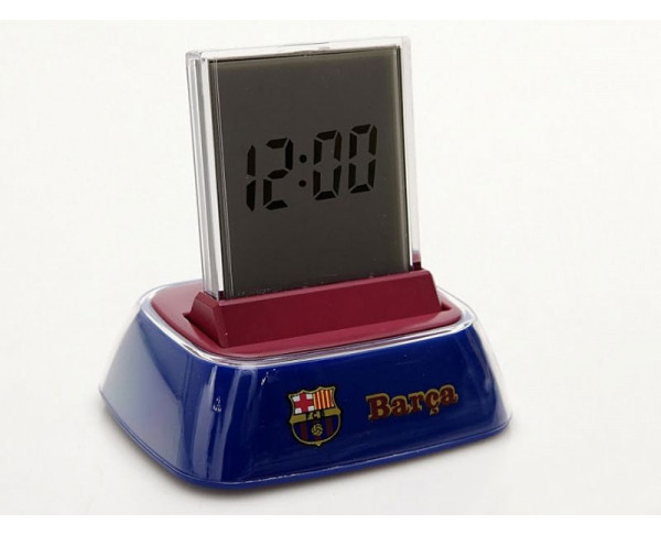 Reloj despertador digital con base del FCBarcelona