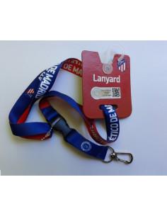 Lanyard portacosas Atlético de Madrid azul y rojo