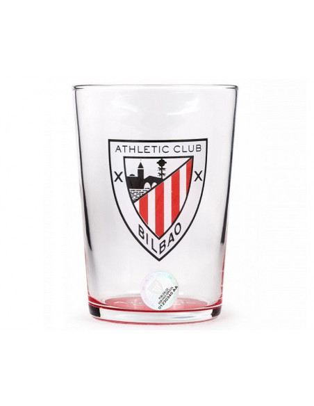 Vaso grande de cristal del Athletic Club de Bilbao
