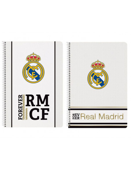 Cuaderno tamaño folio Real Madrid or Ever RMCF