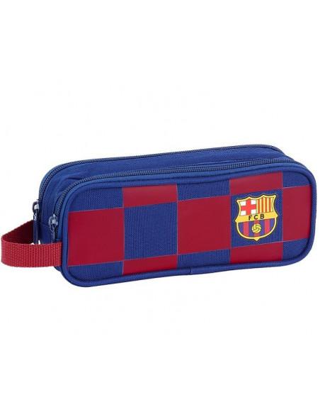 Estuche escolar con dos departamentos FC Barcelona