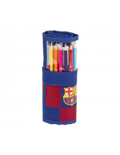 Plumier enrollable FC Barcelona con 27 piezas escolares