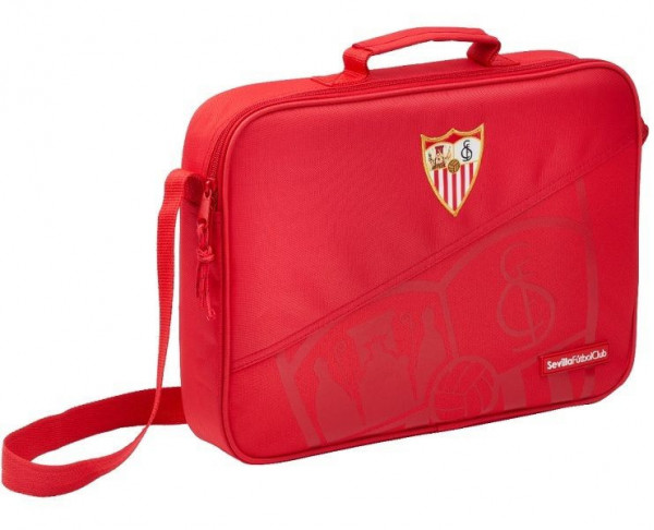 Cartera maletín extraescolar Sevilla FC color rojo