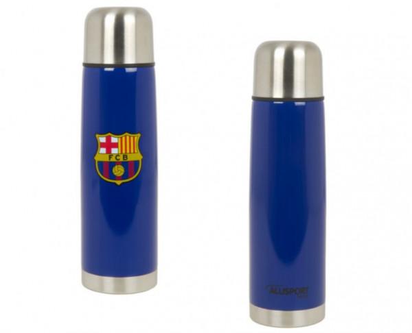 Botella termo del FC Barcelona azul