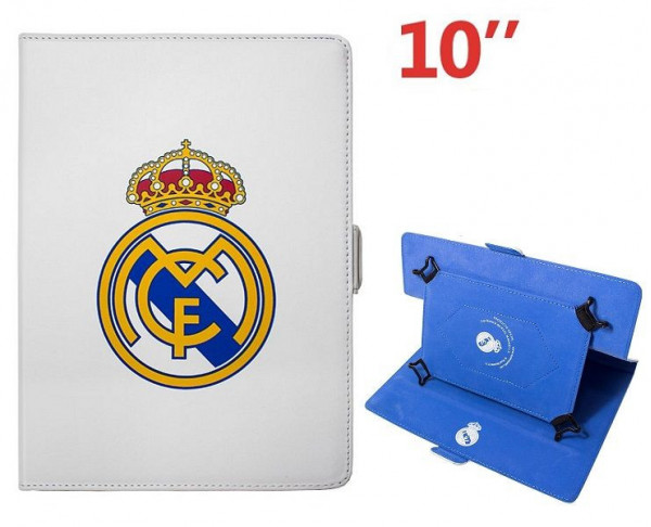 Funda de polipiel para tablet 10 pulgadas Real Madrid