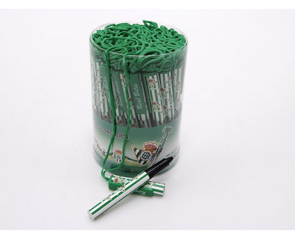 Bolígrafo del Betis con cuerda para colgar del cuello