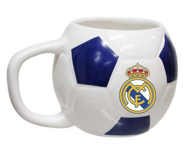 Taza balón de porcelana Real Madrid