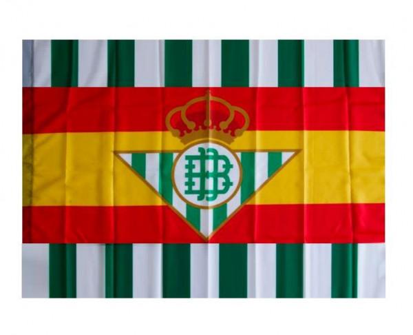 Bandera del Real Betis con los colores de España