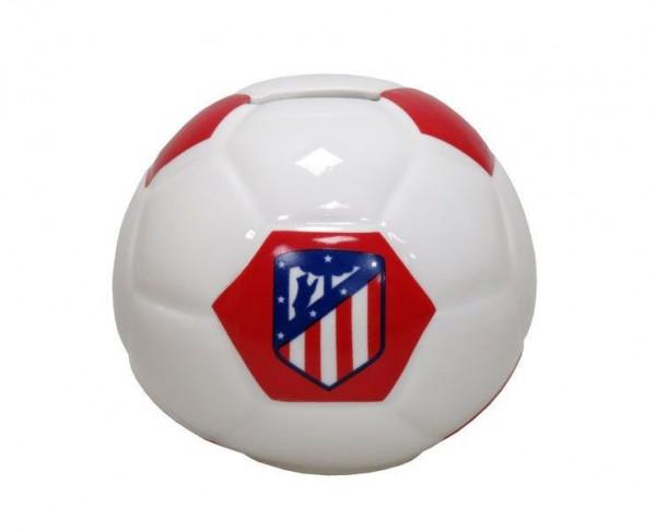 Hucha de porcelana con forma de balón Atlético de Madrid