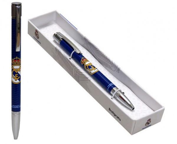 Bolígrafo metálico de lujo Real Madrid azul