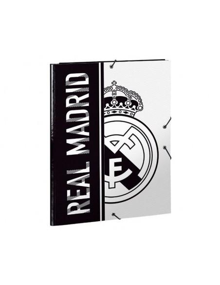 Carpeta solapas con gomas Real Madrid tamaño folio