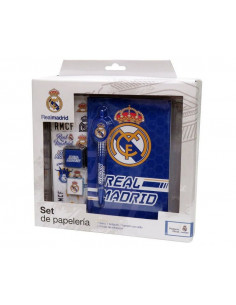 Set de papeleria Real Madrid en caja de regalo