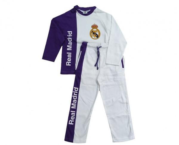 Pijama infantil de algodón Real Madrid manga larga