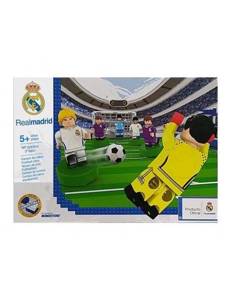 Kit construcción campo fútbol y jugadores Real Madrid