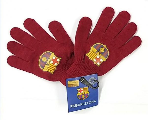 Guantes de lana juvenil grana FC Barcelona
